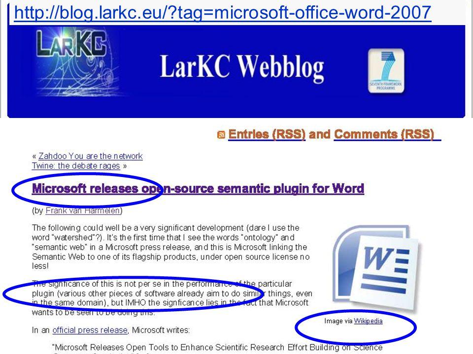 http://blog.larkc.eu/ tag=microsoft-office-word-2007
