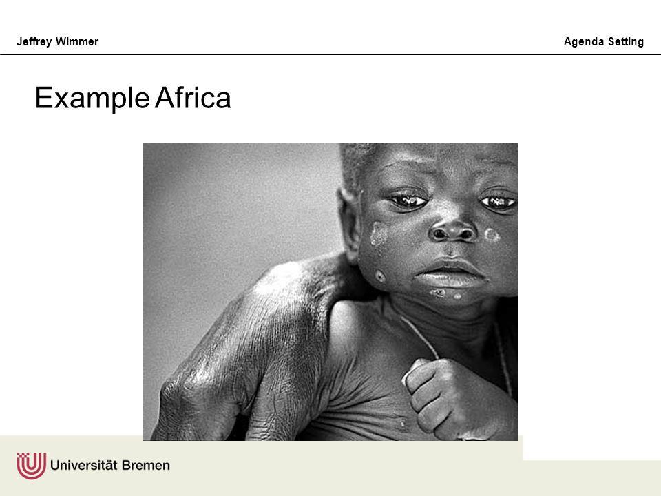 Jeffrey WimmerAgenda Setting Example Africa