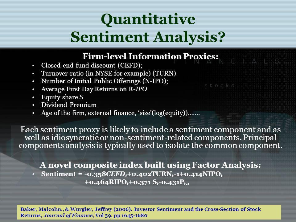 Quantitative Sentiment Analysis.
