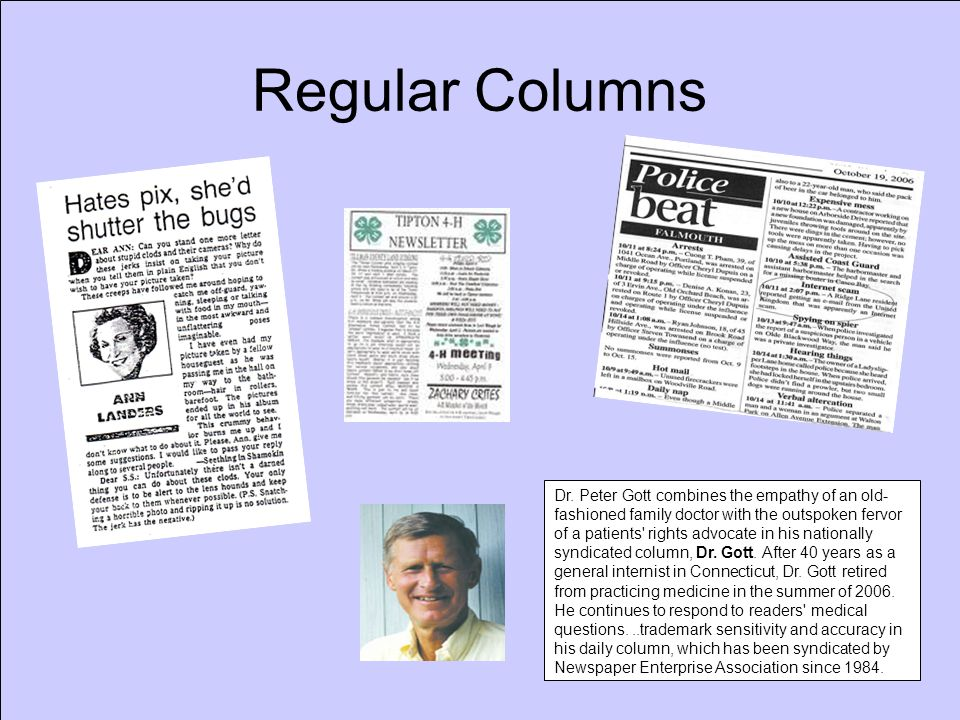 Regular Columns Dr.