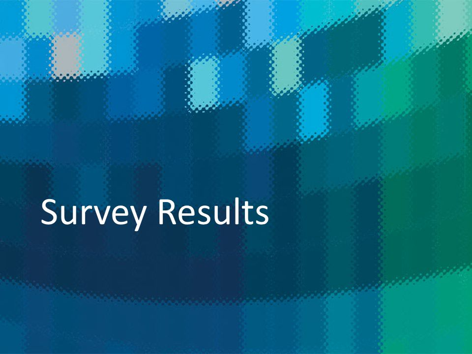 NEWS THAT MATTERS Survey Results