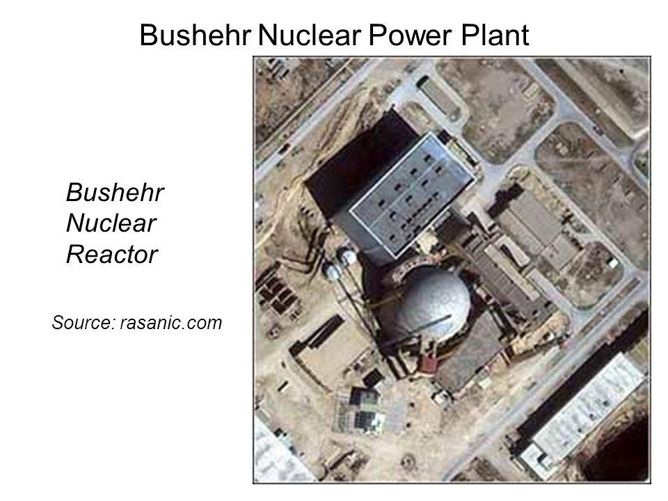 Bushehr Nuclear Power Plant Bushehr Nuclear Reactor Source: rasanic.com
