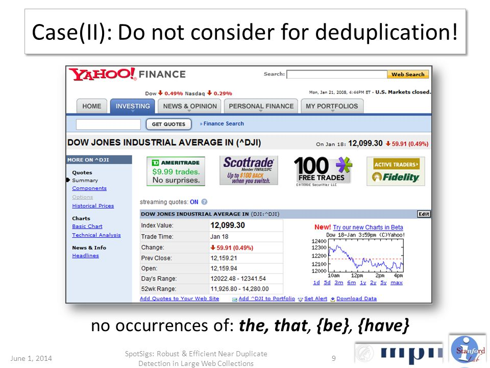Case(II): Do not consider for deduplication.