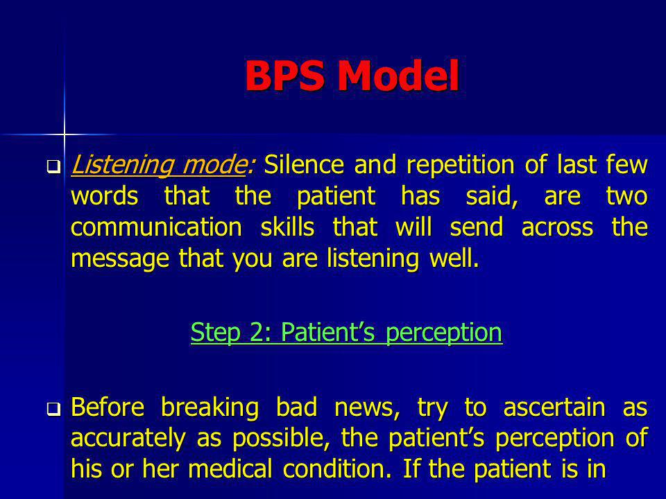 Full Disclosure Model The disadvantages are that the discussion of options in detail may frighten and confuse some patients; insisting on information may undermine defenses e.g.