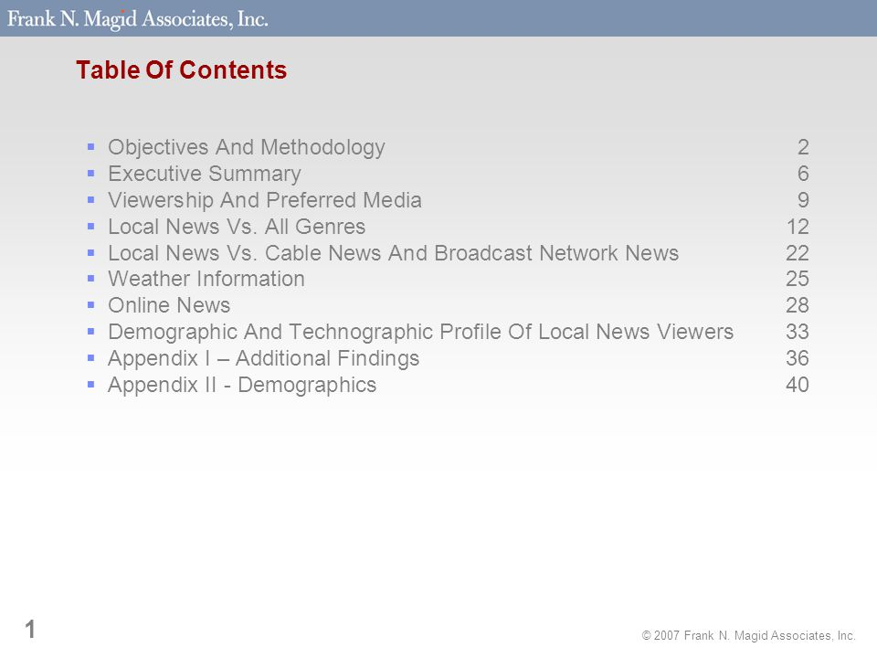 © 2007 Frank N. Magid Associates, Inc. 22 Local News Vs. Cable News And Broadcast Network News