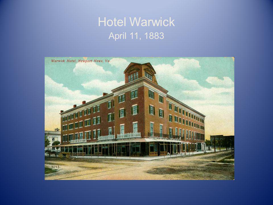 Hotel Warwick April 11, 1883