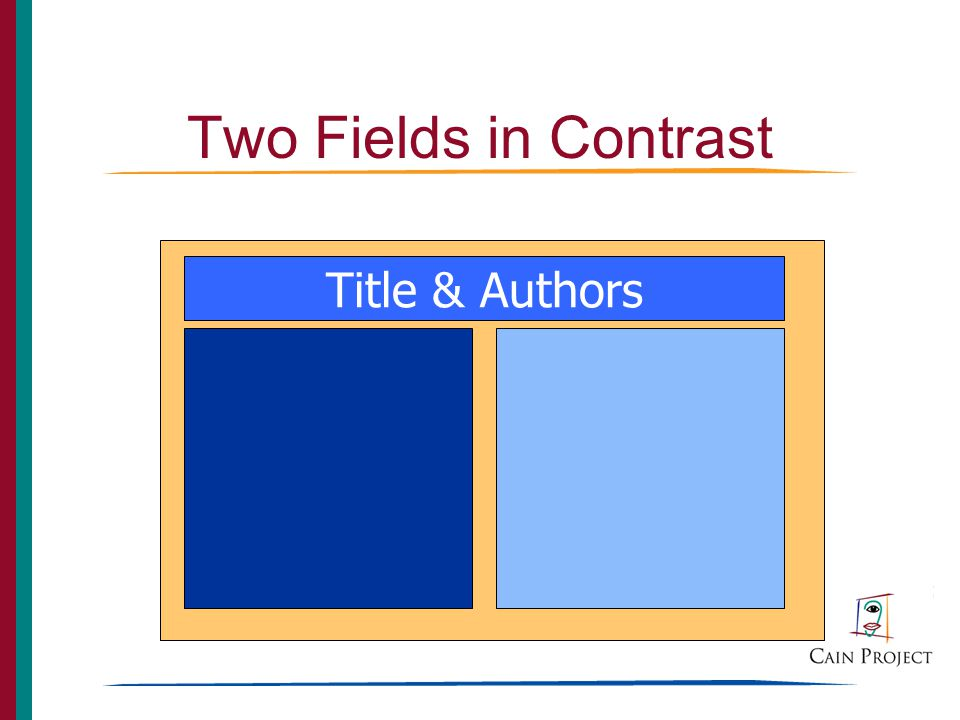 Two Fields in Contrast Title & Authors