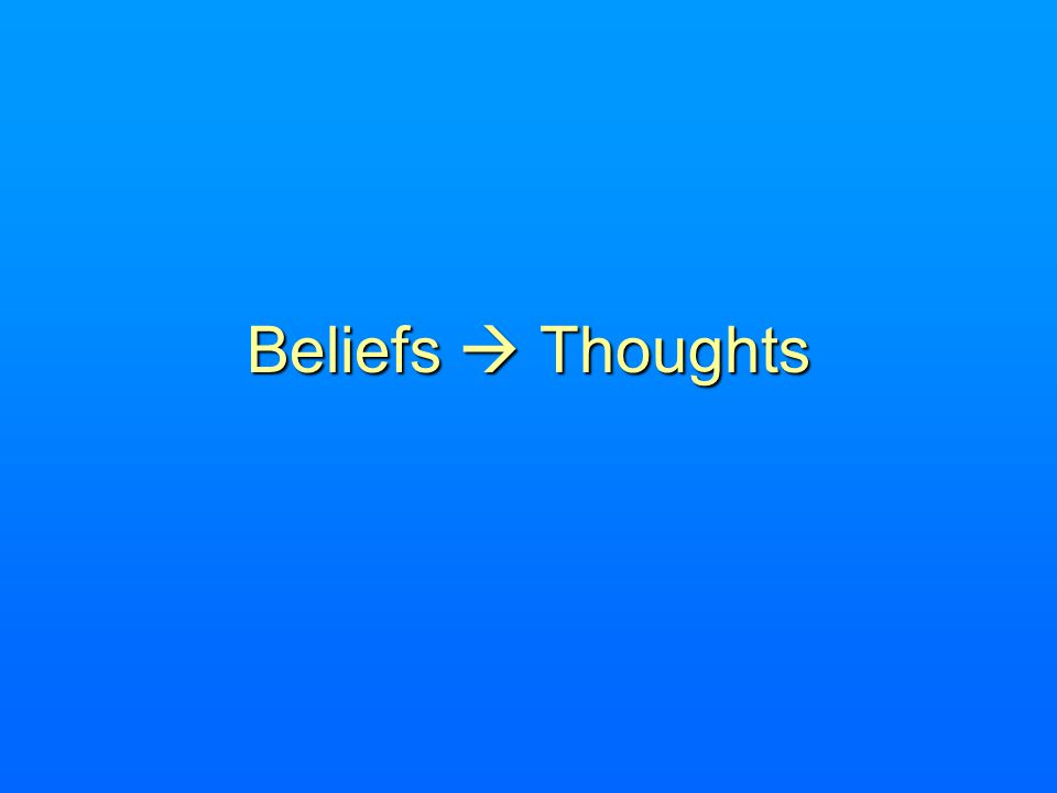Beliefs Thoughts