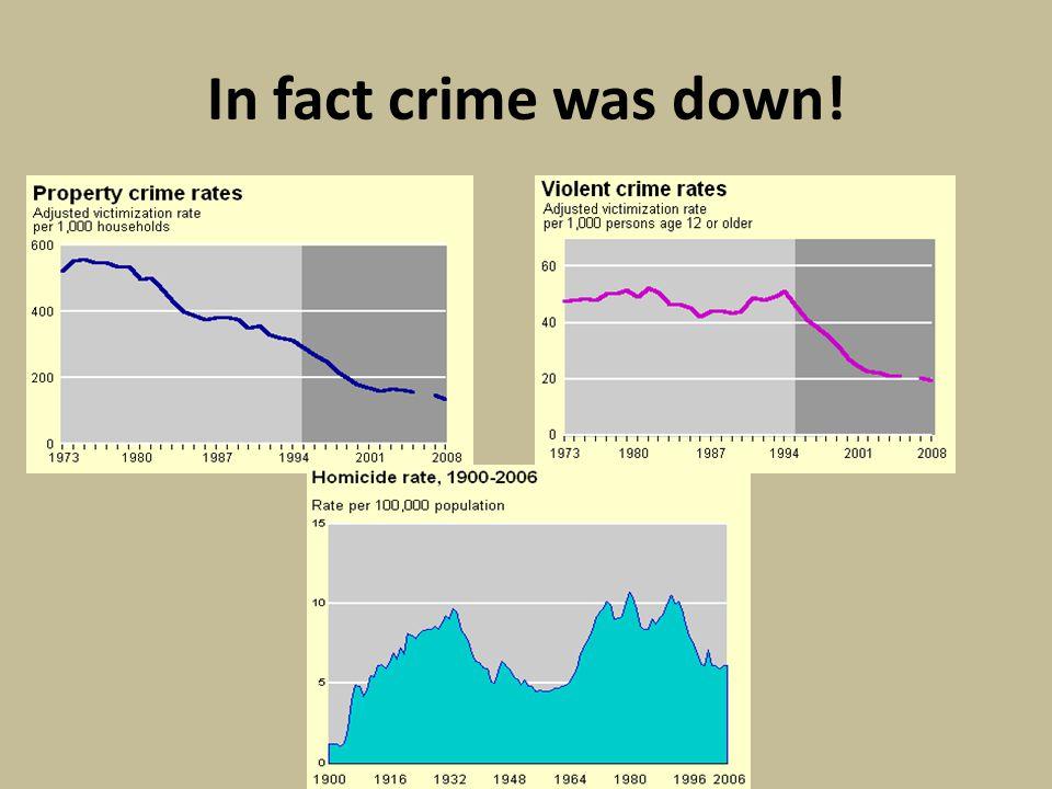 Concern = new policies e.g., 1994 crime bill (more police, more prisons)