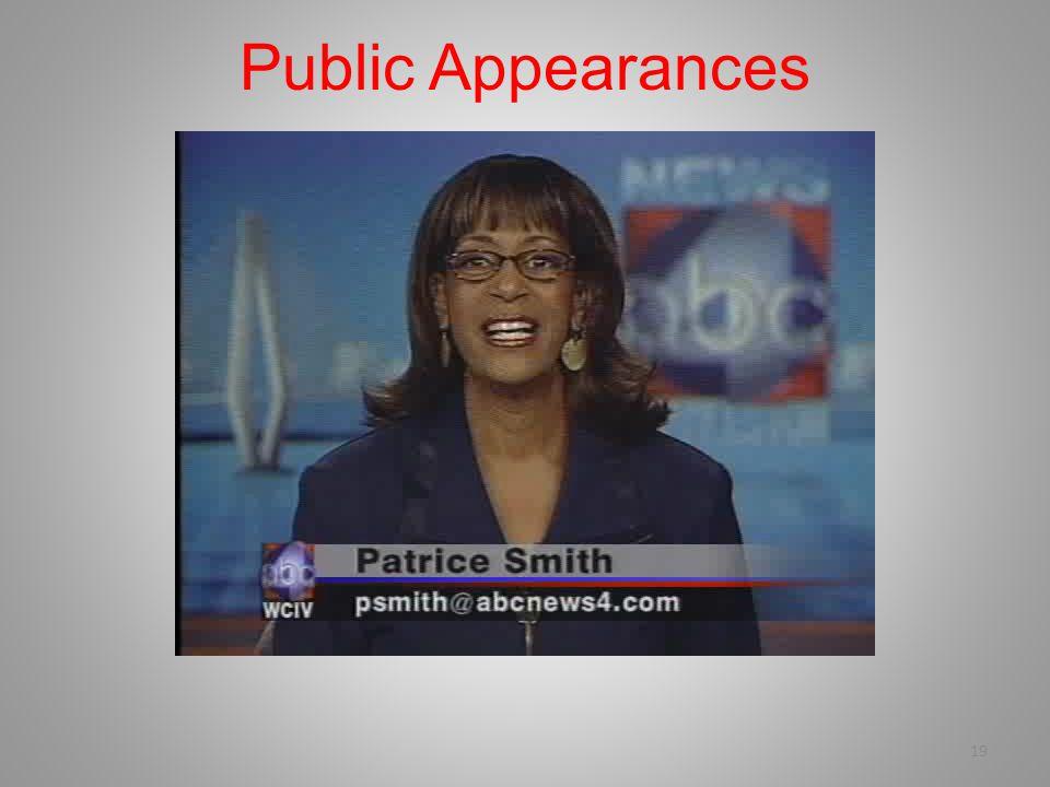 19 Public Appearances