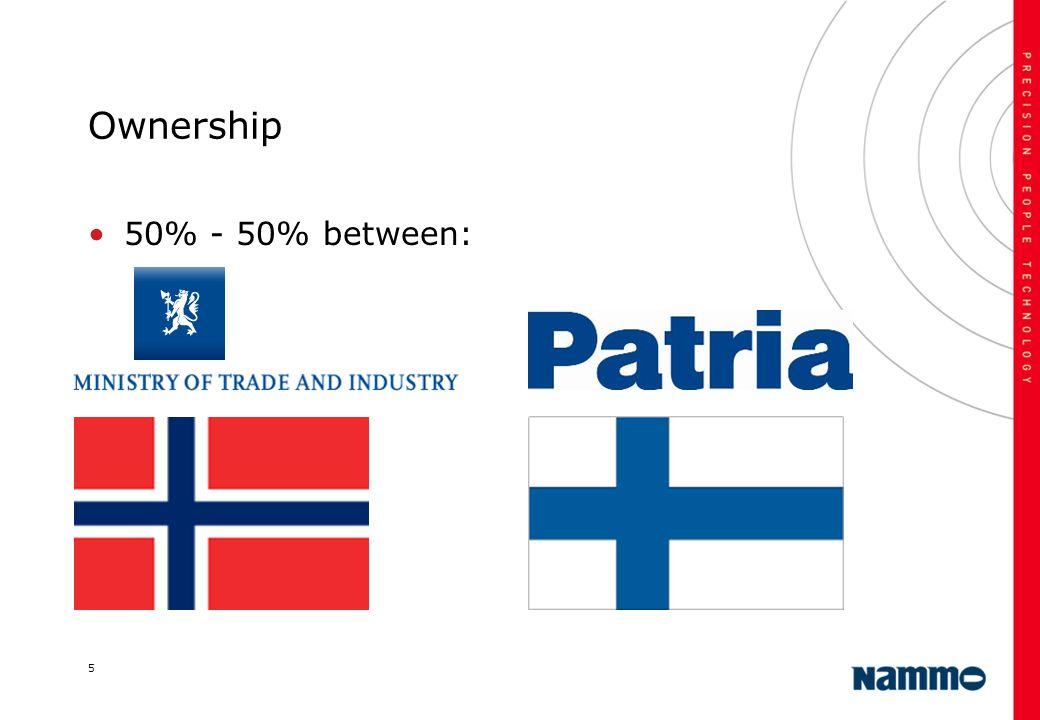 5 Ownership 50% - 50% between: