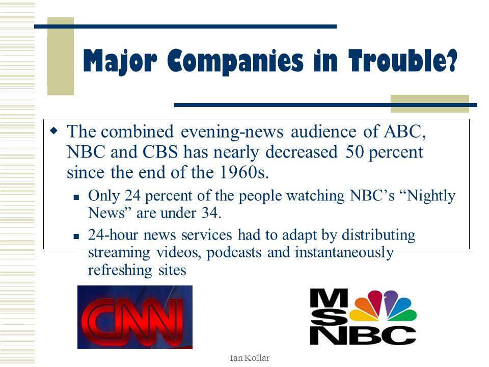 Ian Kollar Major Companies in Trouble.