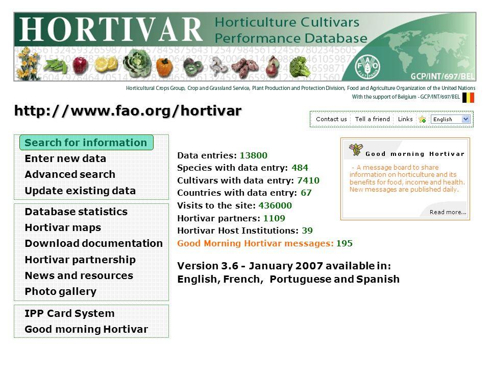 HORTIVAR SEARCH