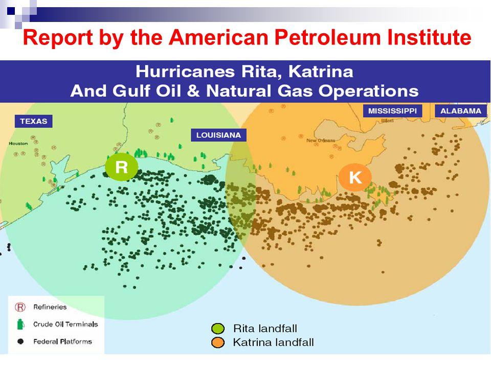 Report by the American Petroleum Institute