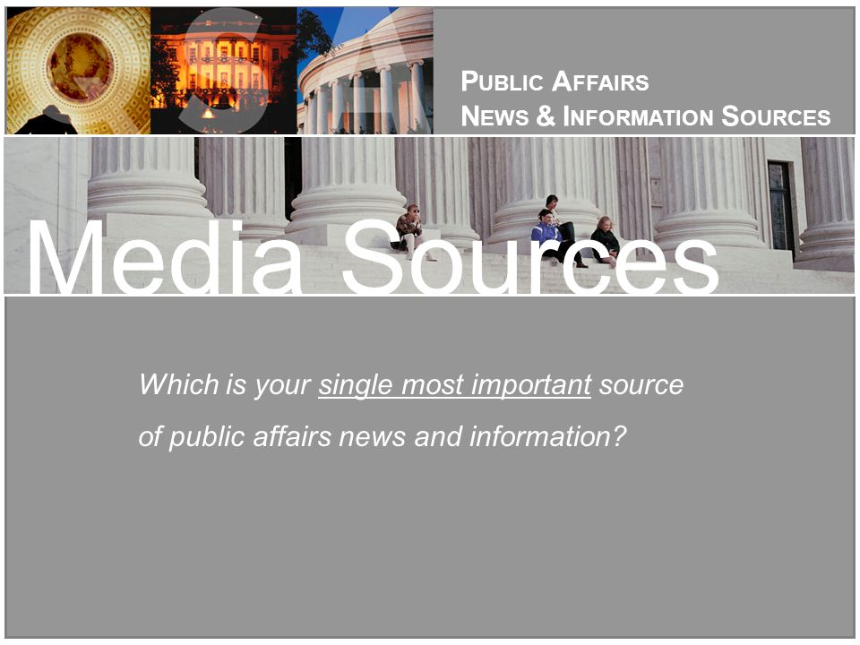 Which is your single most important source of public affairs news and information.