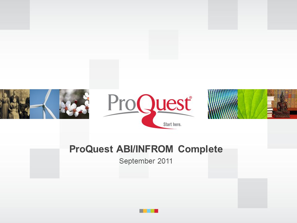 ProQuest ABI/INFROM Complete September 2011