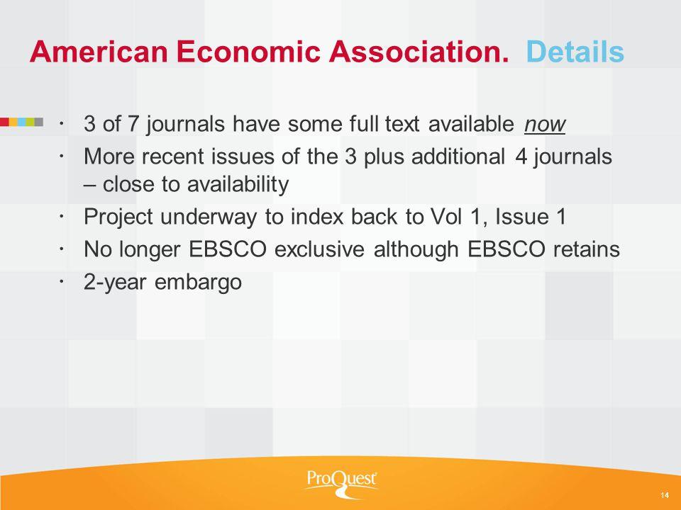 American Economic Association.