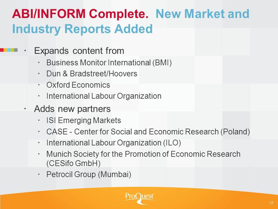 ABI/INFORM Complete.