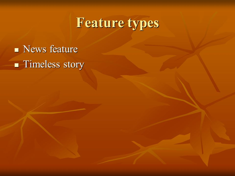 Feature types News feature News feature Timeless story Timeless story