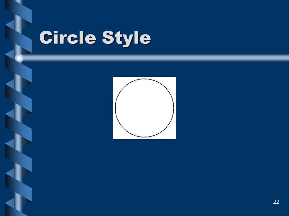 22 Circle Style
