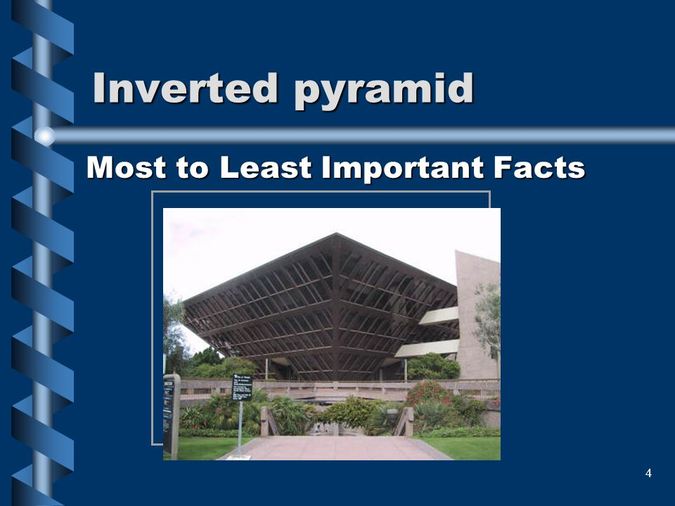 4 Inverted pyramid Most to Least Important Facts