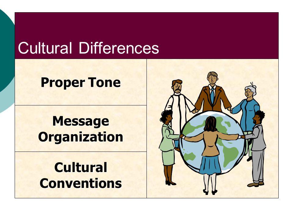Cultural Differences Proper Tone CulturalConventions MessageOrganization