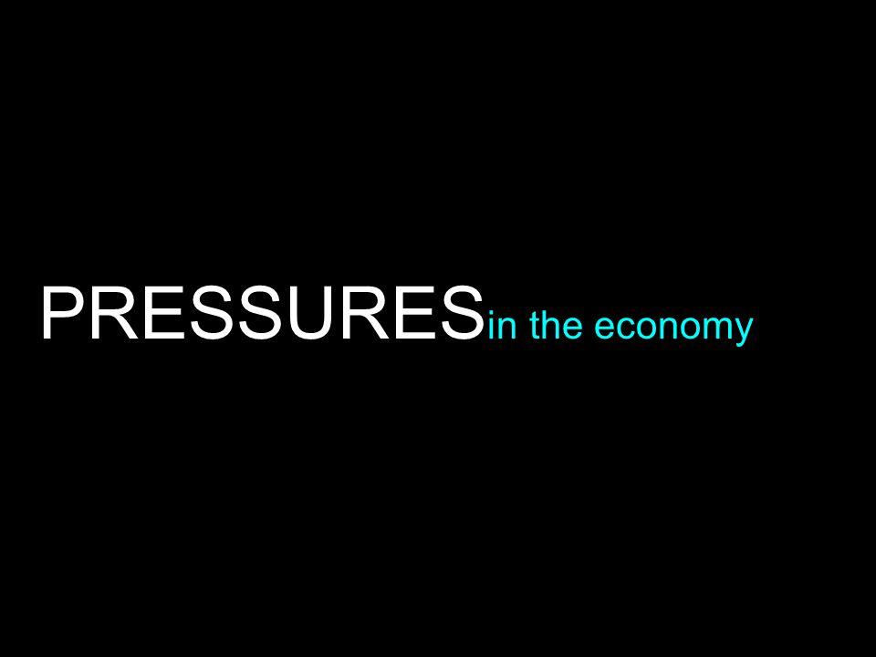 PRESSURES in the economy
