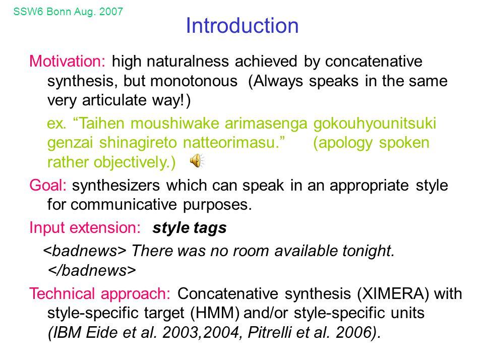 SSW6 Bonn Aug. 2007 appendices