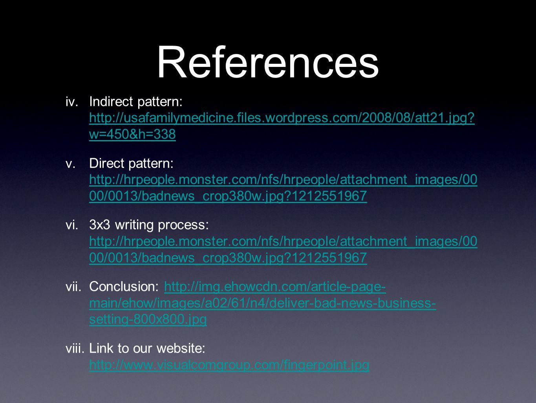 References iv. Indirect pattern: http://usafamilymedicine.files.wordpress.com/2008/08/att21.jpg.
