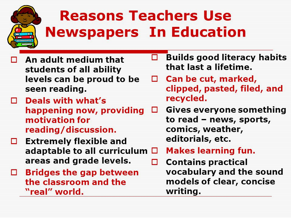 Newspapers Impact Literacy in All Classrooms Language Arts Math Science Technology Social Studies Critical Thinking Life Skills Character Education