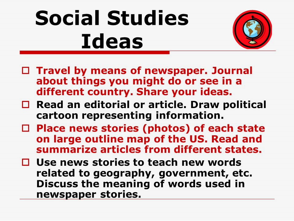 Critical Thinking Idea # 1 Choose a story from the front page.