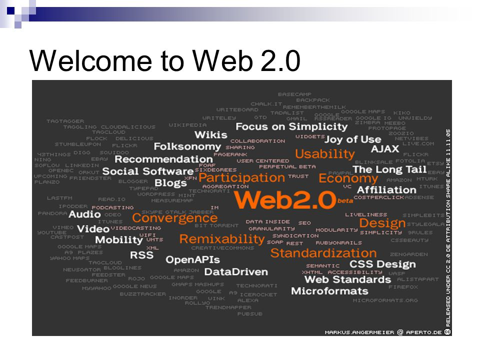Welcome to Web 2.0