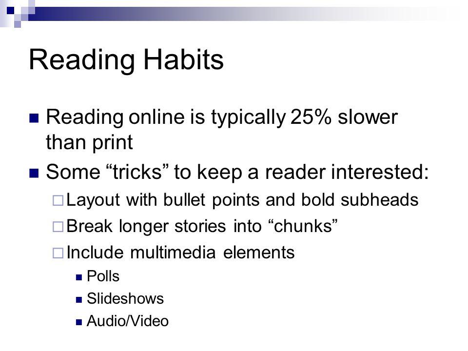Web Journalism What works online.