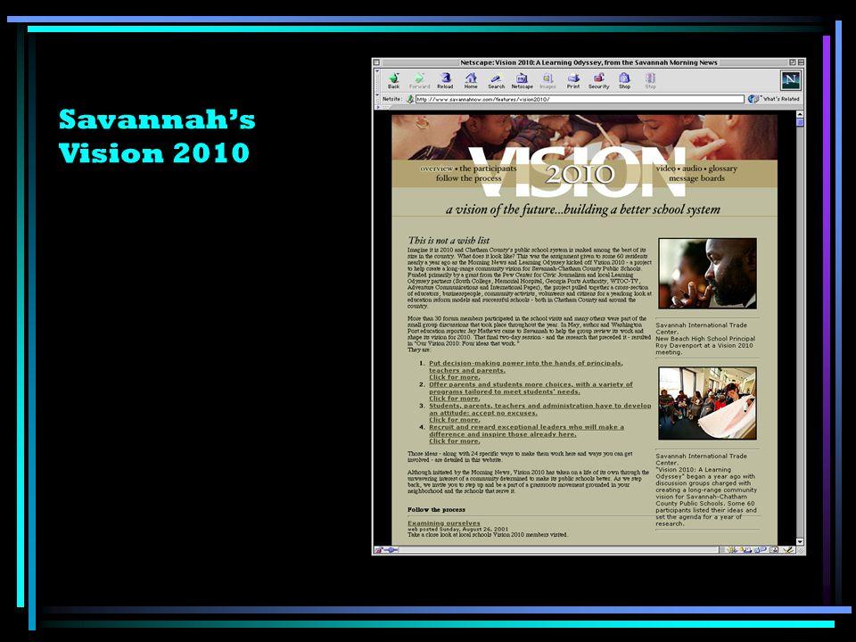 Savannahs Vision 2010