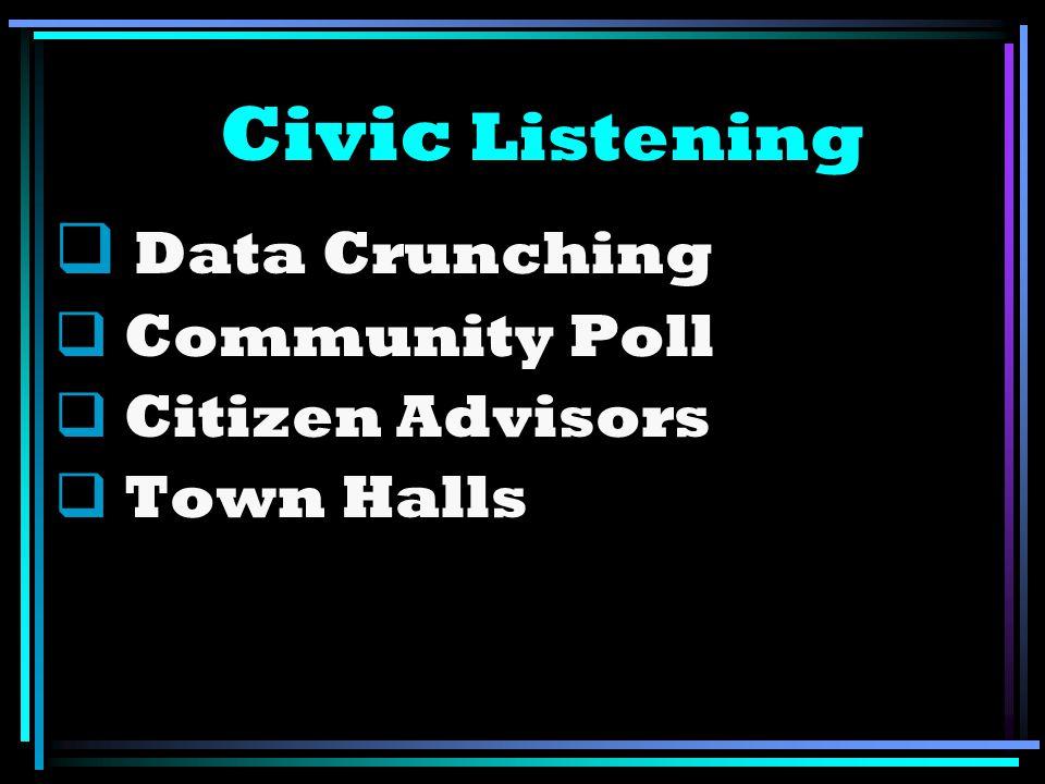 Civic Listening Data Crunching Community Poll Citizen Advisors Town Halls
