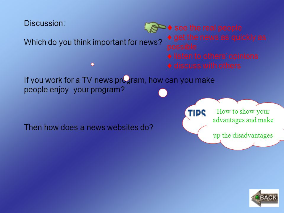 Discussion: Which do you think important for news.