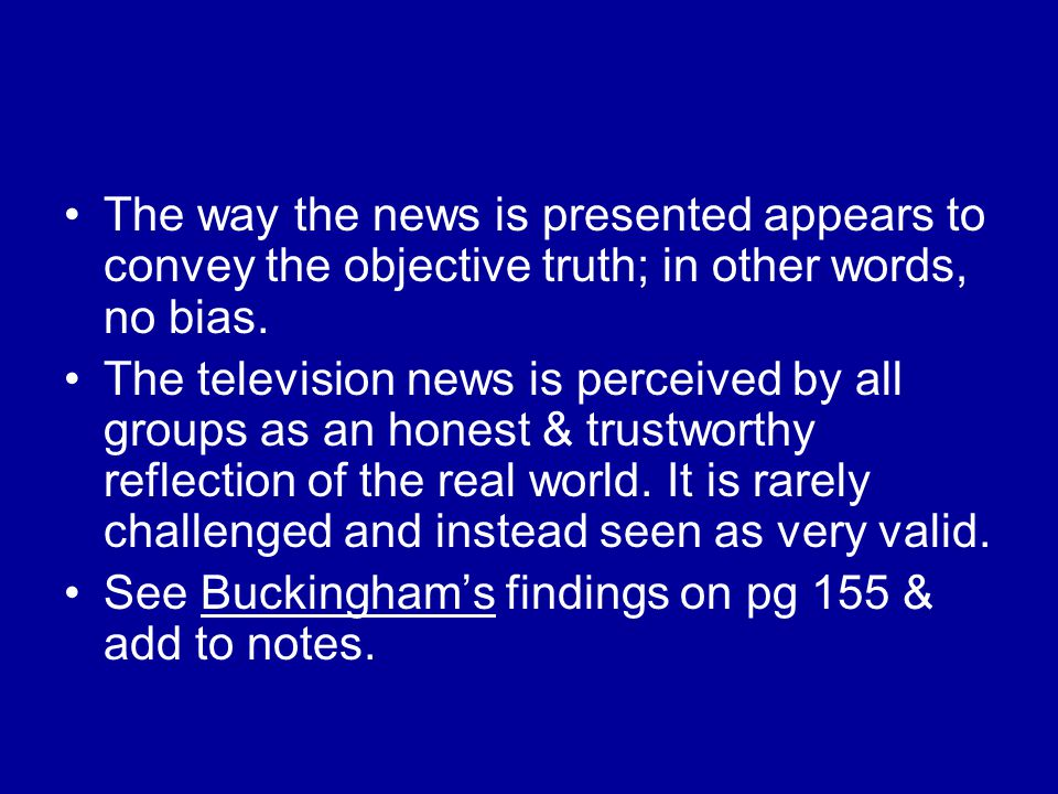Is television news impartial.