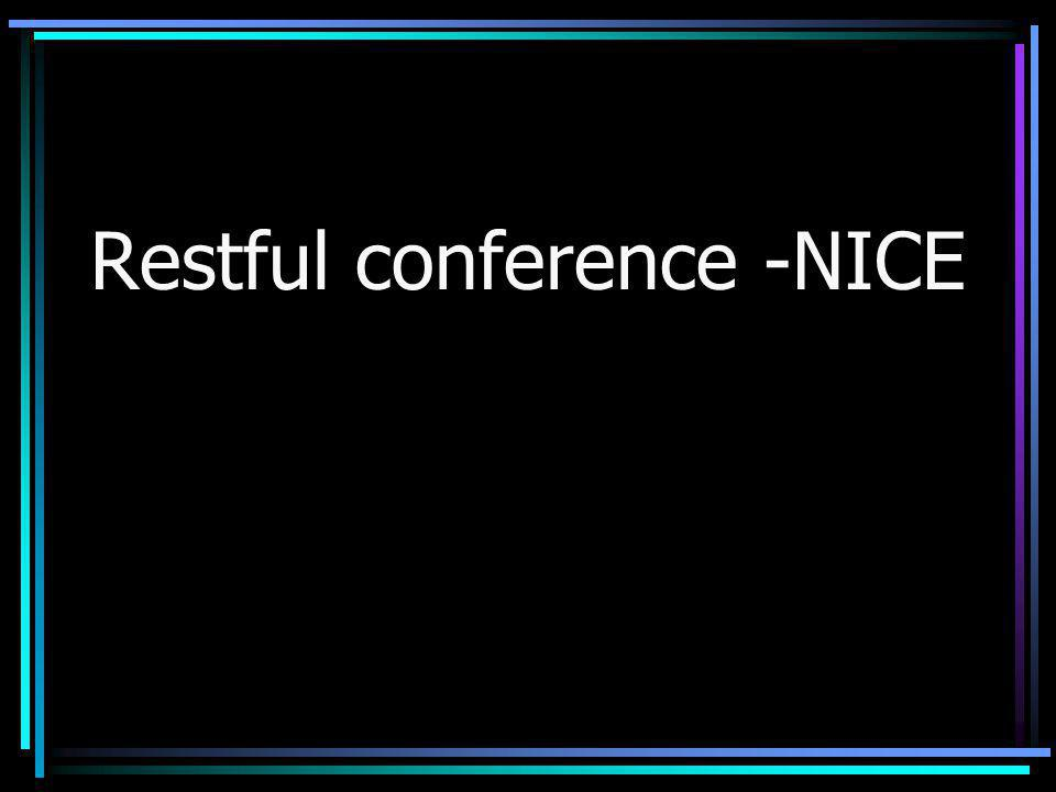 Restful conference -NICE
