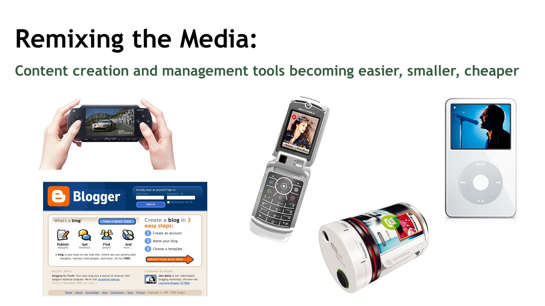 Remixing the Media: Content creation and management tools becoming easier, smaller, cheaper