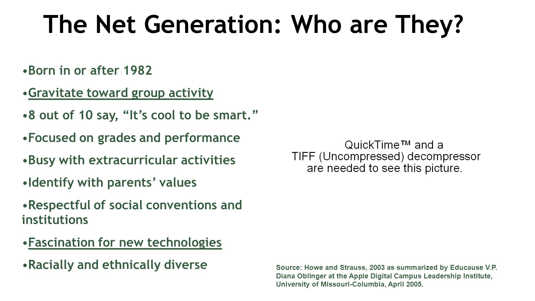 The Net Generation: Who are They.