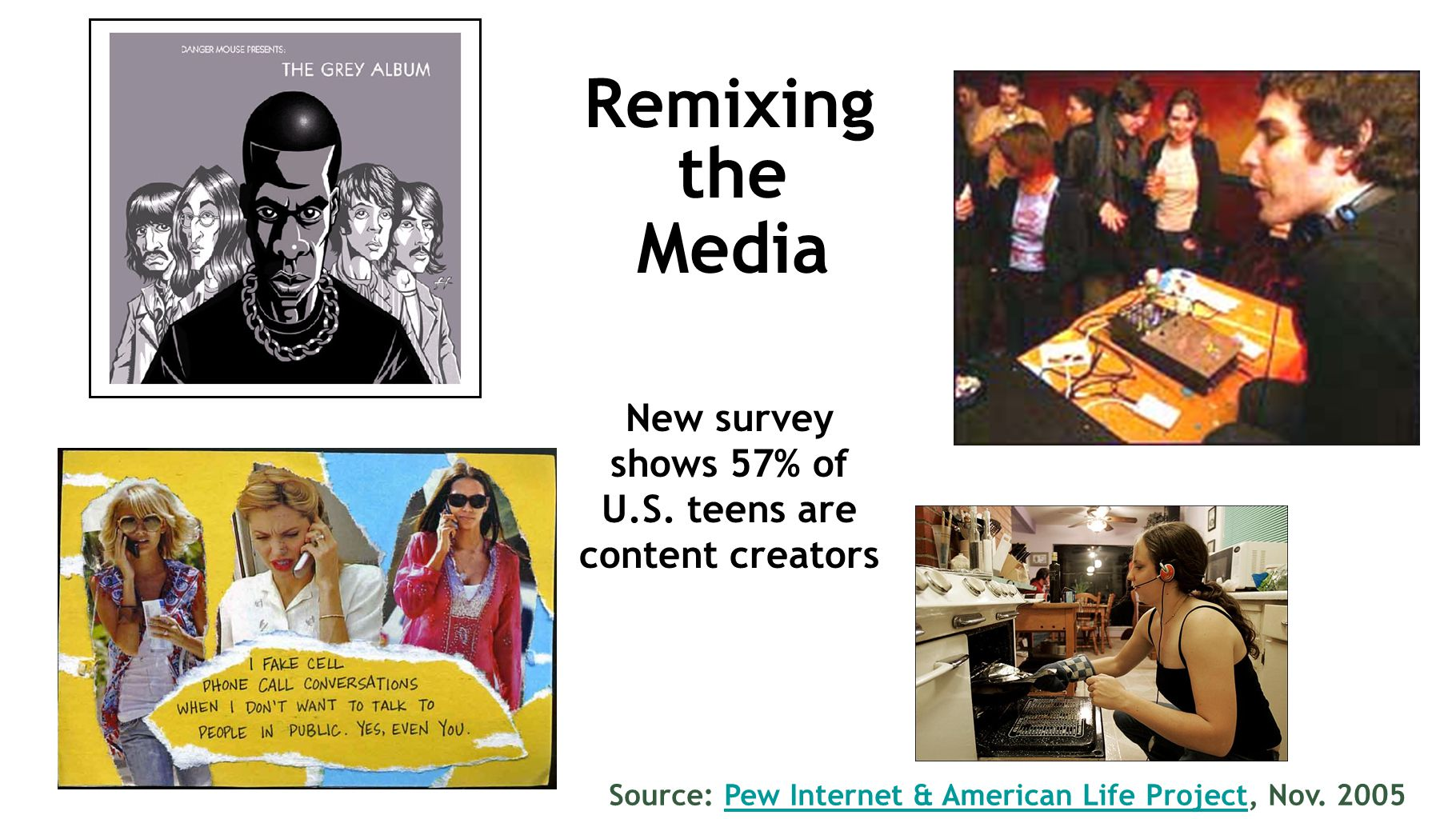 Remixing the Media New survey shows 57% of U.S.