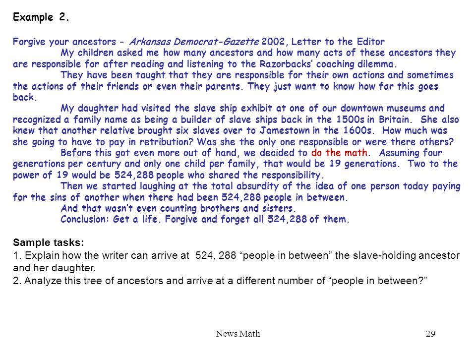News Math29 Example 2.