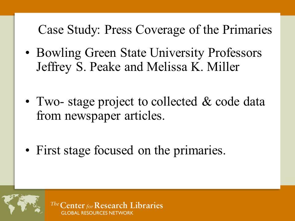 Bowling Green State University Professors Jeffrey S.