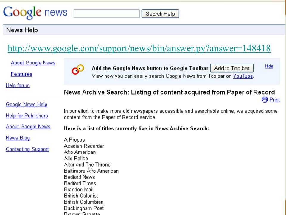 http://www.google.com/support/news/bin/answer.py answer=148418
