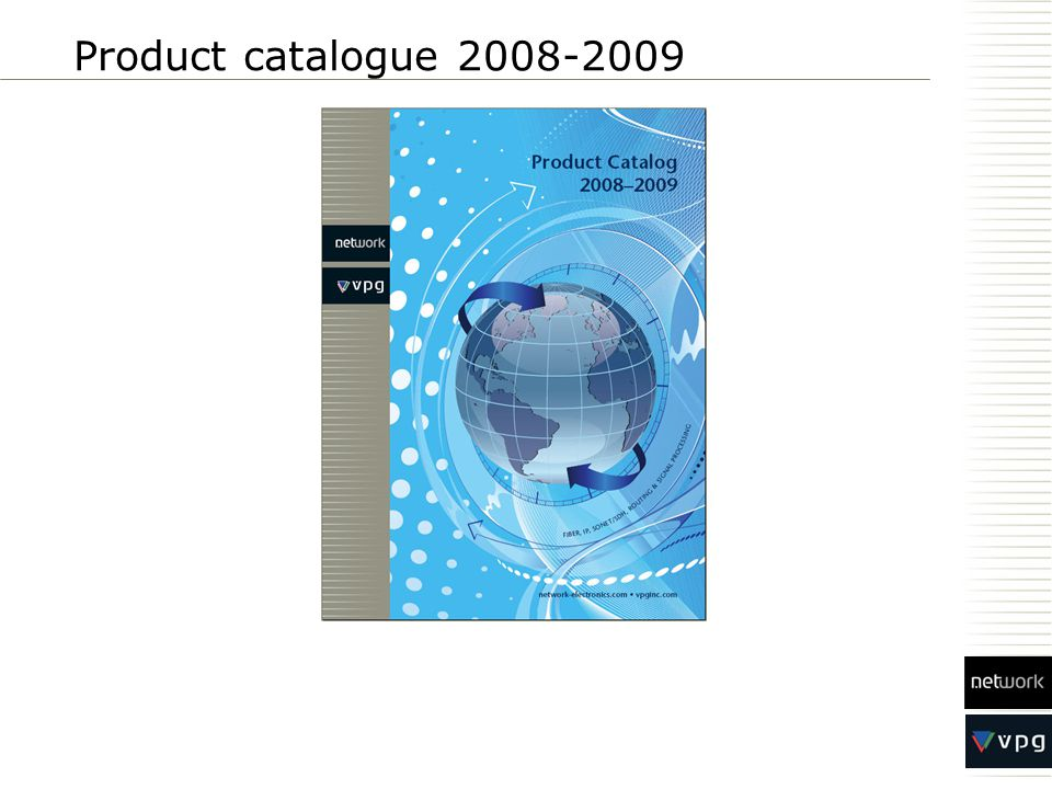 Product catalogue 2008-2009