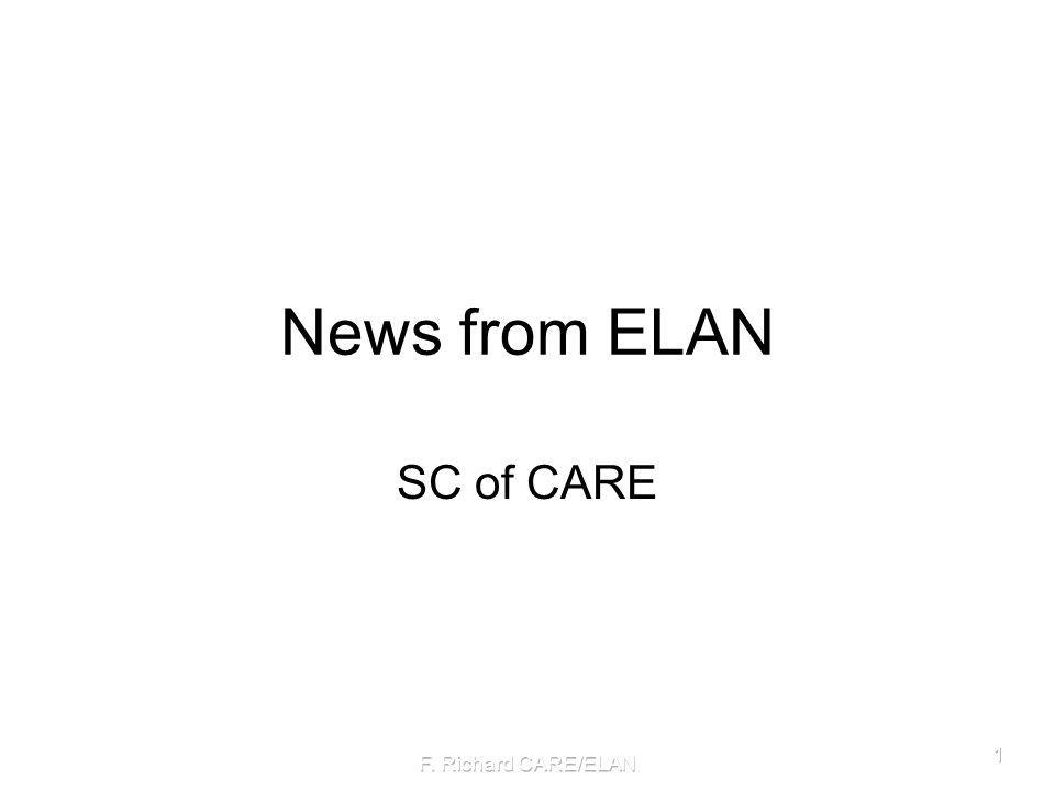 News from ELAN SC of CARE