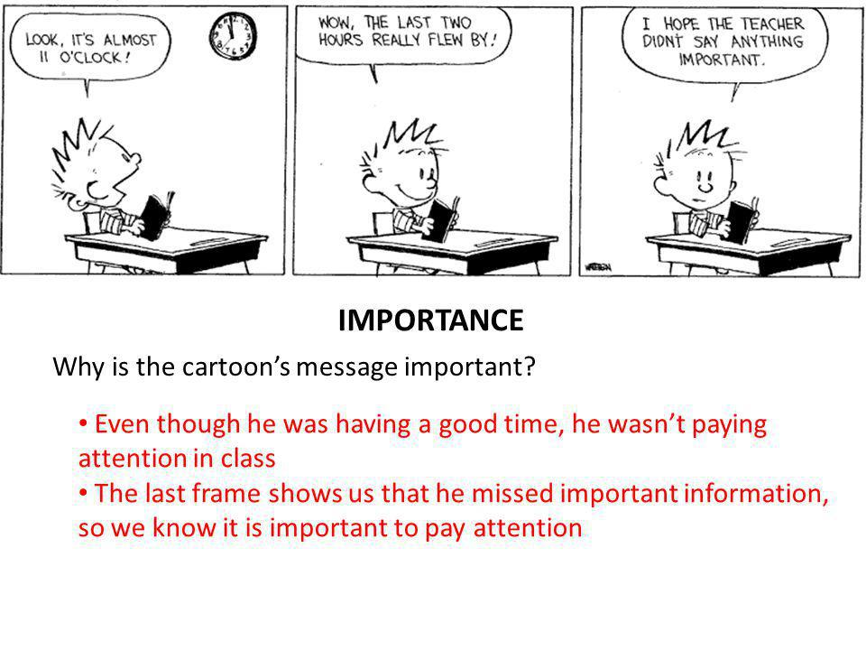 Why is the cartoons message important.
