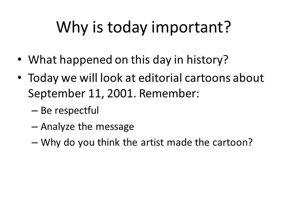 Why is today important. What happened on this day in history.