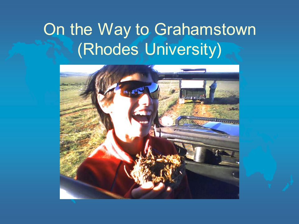 On the Way to Grahamstown (Rhodes University)