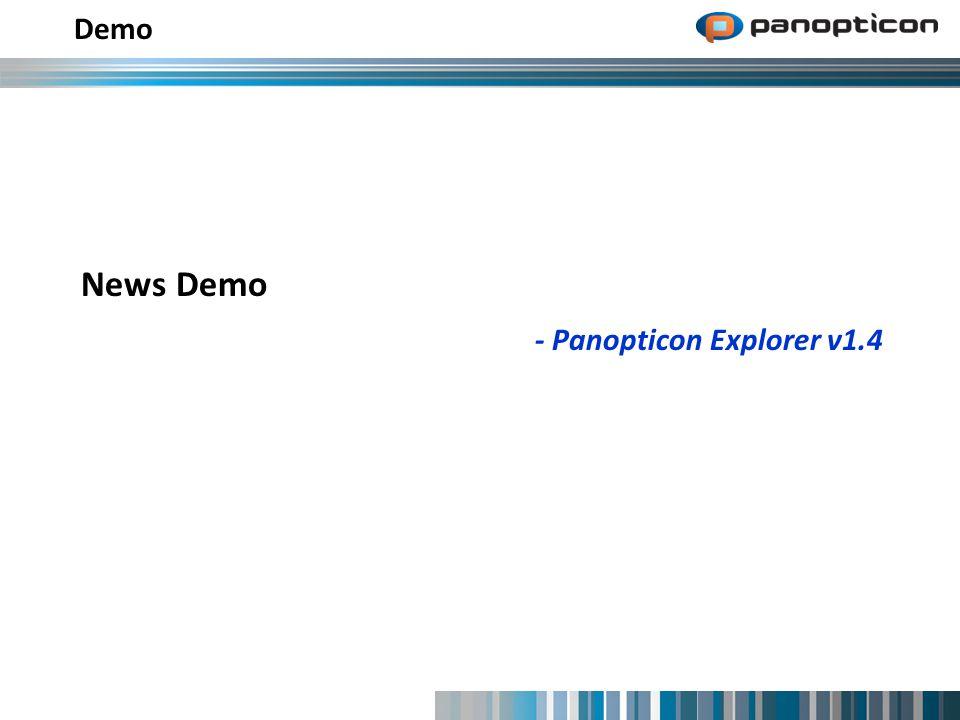 News Demo - Panopticon Explorer v1.4 Demo